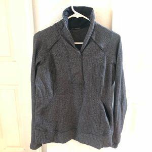 Lululemon sweater jacket herringbone sz 10